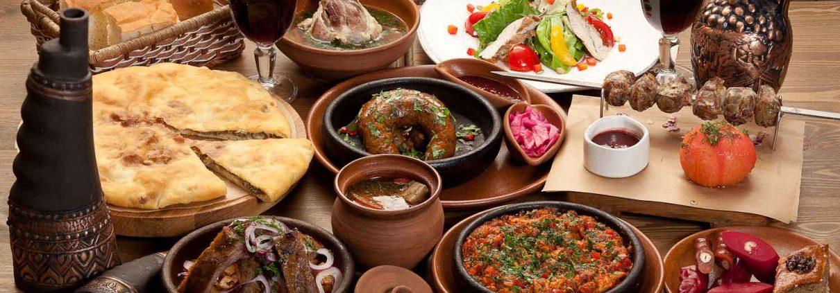 Самые вкусные грузинские блюда в ресторанах Батуми около гостиницы Rock Hotel First Line