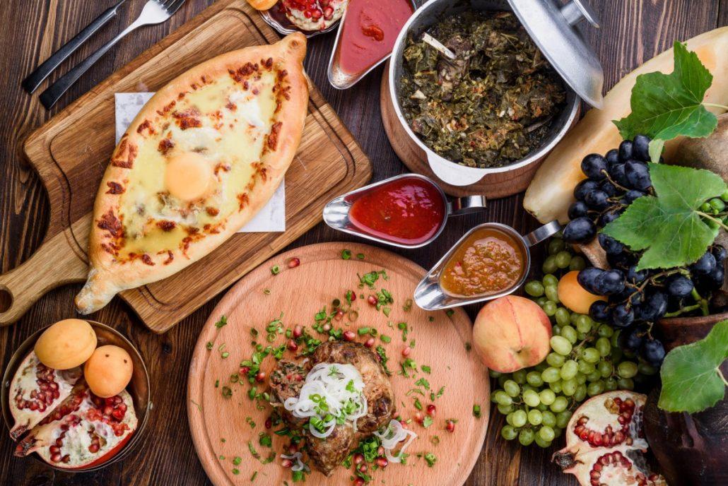 Georgian dishes in Batumi near Rock Hotel First Line