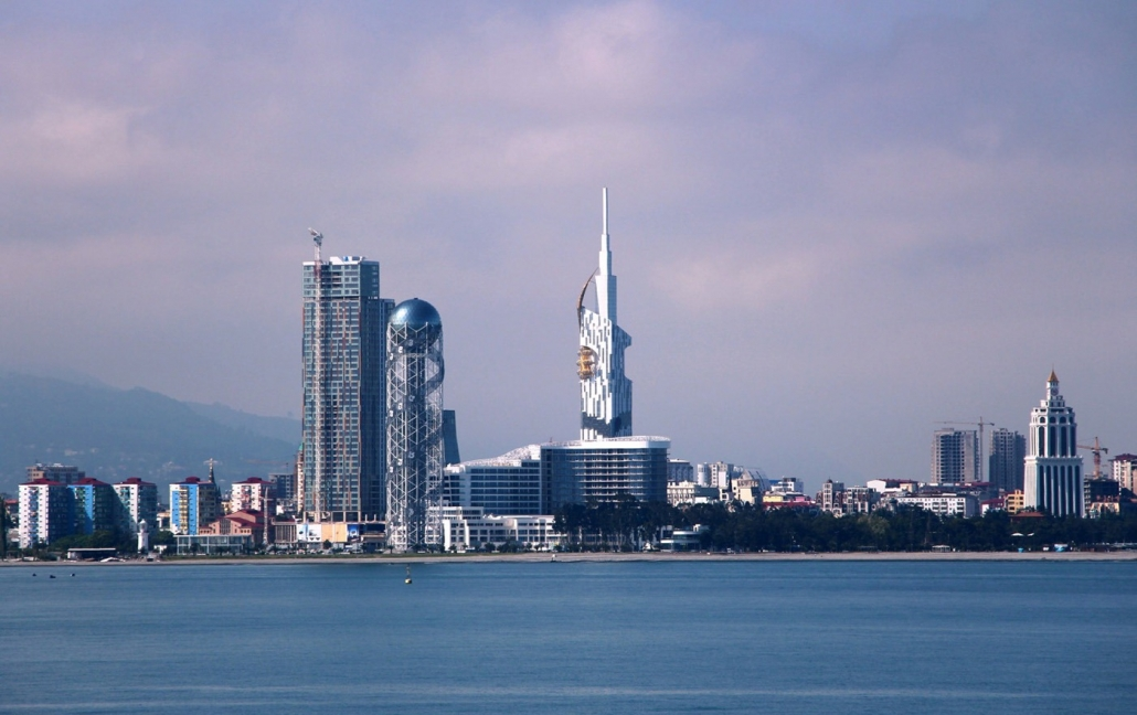 New Boulevard area in Batumi where there is Rock Hotel First Line