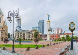 Unusual monuments on New Boulevard in Batumi, where you can also find our hotel - Rock Hotel First Line