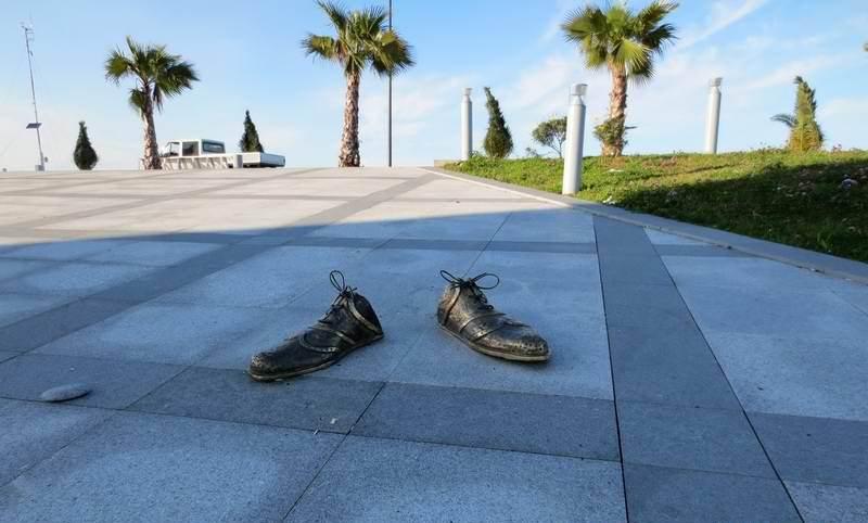 Sculpture of shoes in Batumi