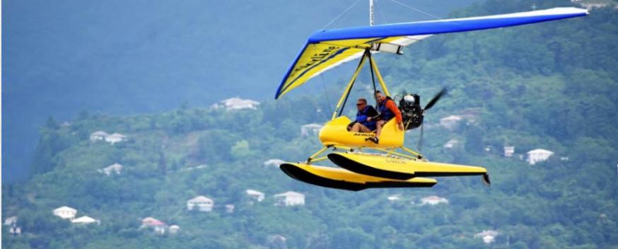 Полет на дельтаплане в Батуми