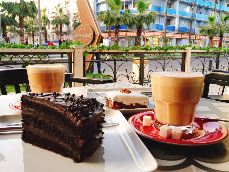 Pleasant breakfast in the cafe Coffeetopia in Batumi